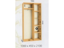 Шкаф купе 1000х450х2100 (2200)