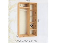 Шкаф купе 1000 х 600 х 2100 (2200)