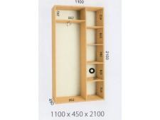 Шкаф купе 1100х450х2100 (2200)