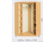 Шкаф купе угловой 1200х1200х2100 (2200)