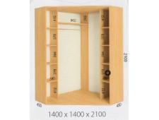 Шкаф купе угловой 1400х1400х2100 (2200)