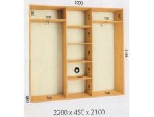 Шкаф купе 2200 х 450 х 2100 (2200)