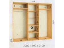 Шкаф купе 2200 х 600 х 2100 (2200)