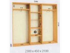Шкаф купе 2300 х 450 х 2100 (2200)
